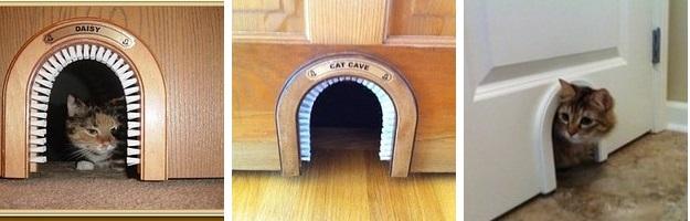 Great The Cat Cave/cat Hole/cat Door.