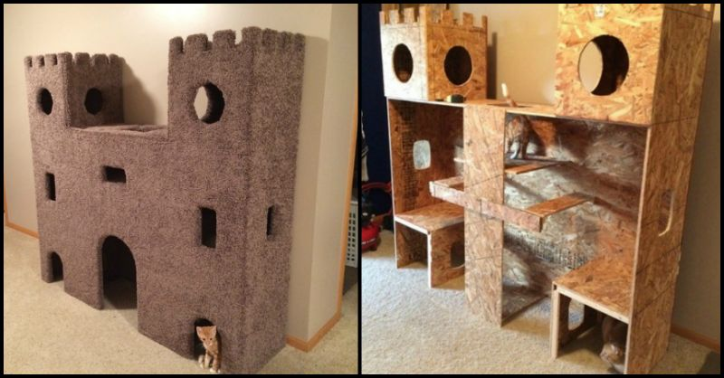 This Diy Epic Kitty Castle Will Make Your Cat Feel Like