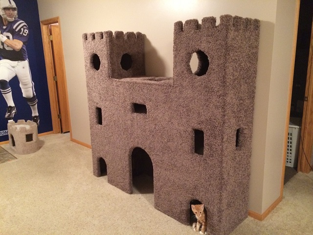 This diy epic kitty castle will make your cat feel like for Epic cat tree