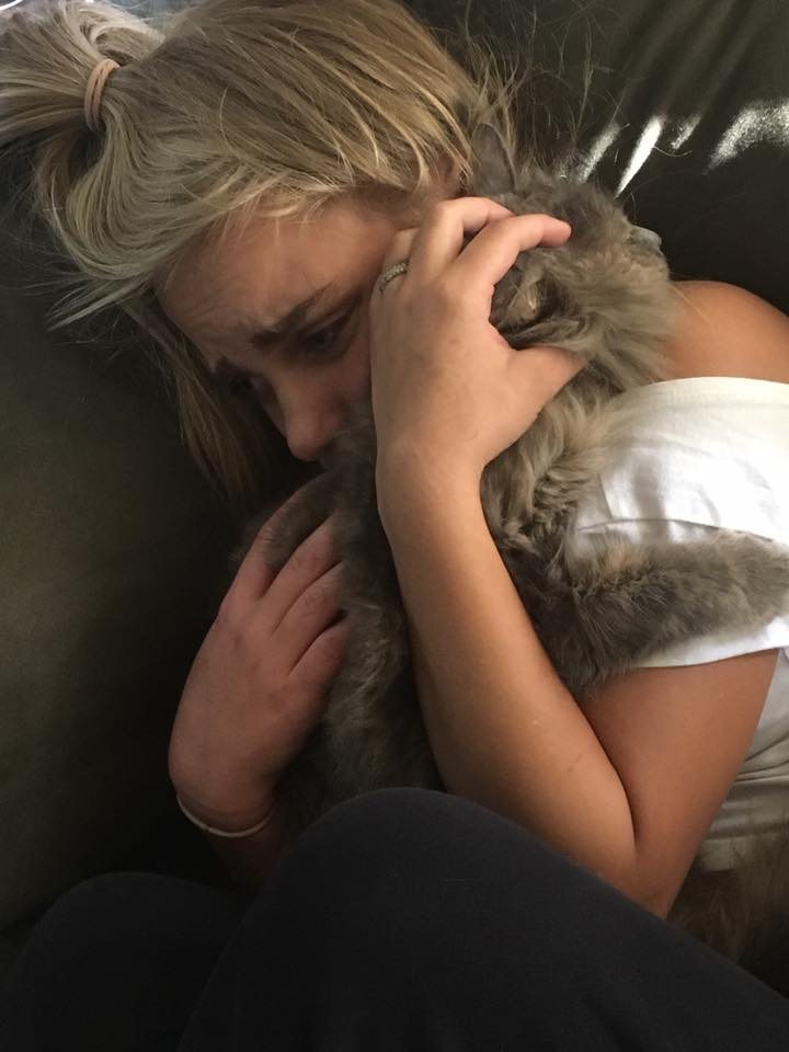Rosie reunited with her family