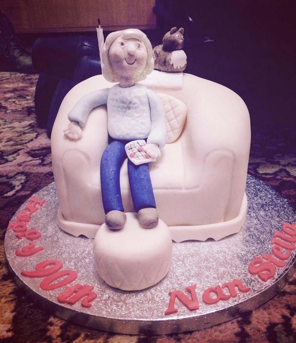 grandma and rio cake