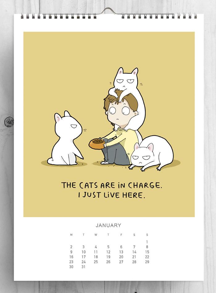 this cat calendar will make 2017 purrfect