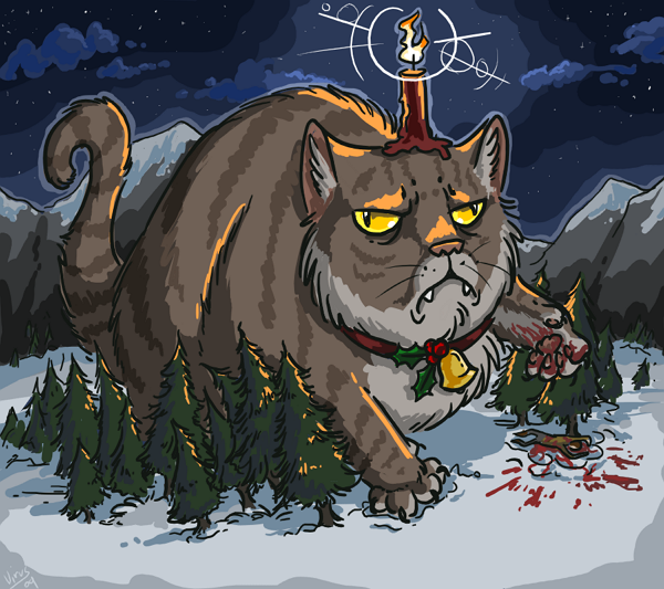 The Christmas Cat of Iceland - a giant terrifying cat that
