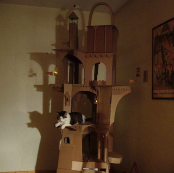 cardboard cat tower 2