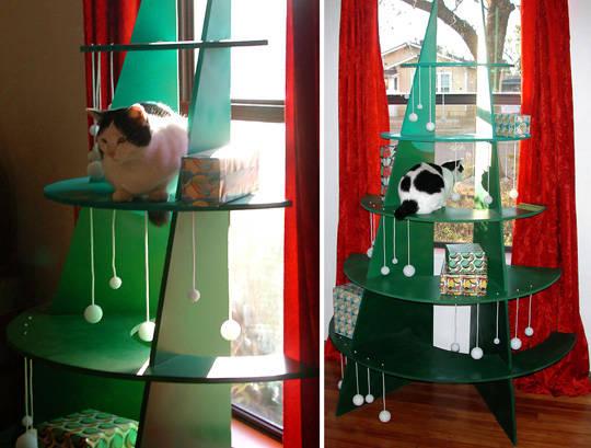 cat christmas tree 4