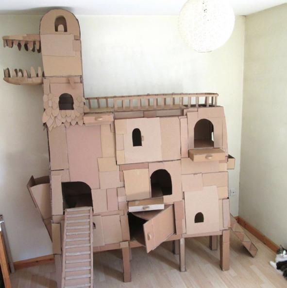 cardboard cat tower 3