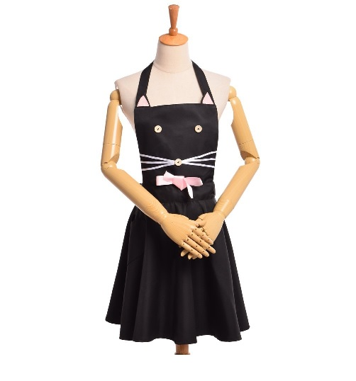 cat black apron