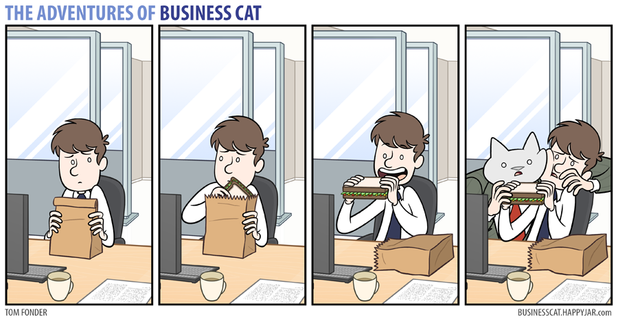 business cat sandwich