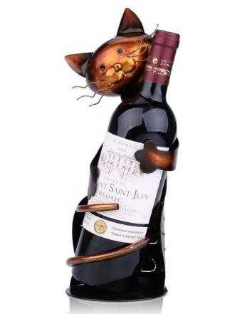 cat wine rack