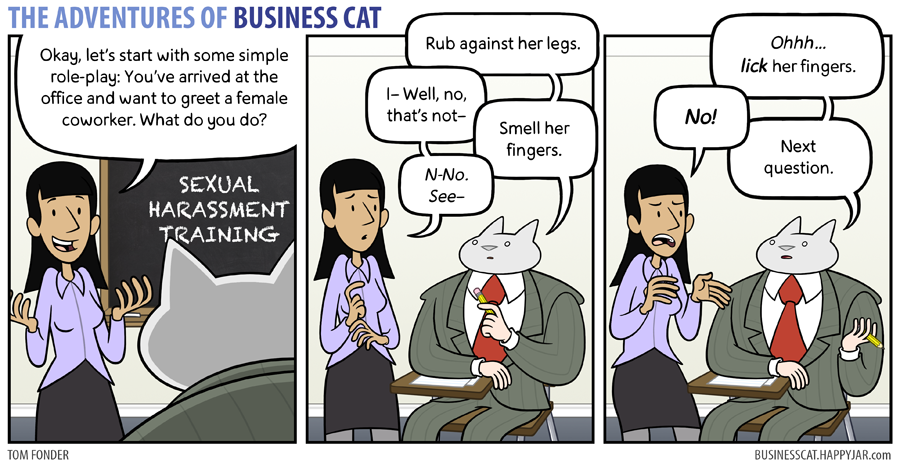 business cat sexual harassment training