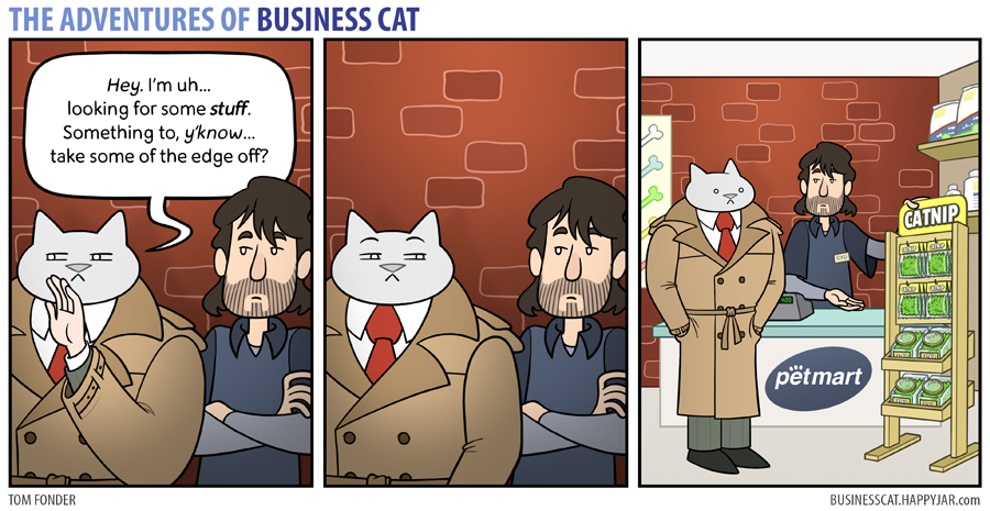 business cat catnip