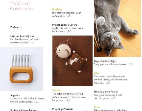 crafting with cat hair table of contents