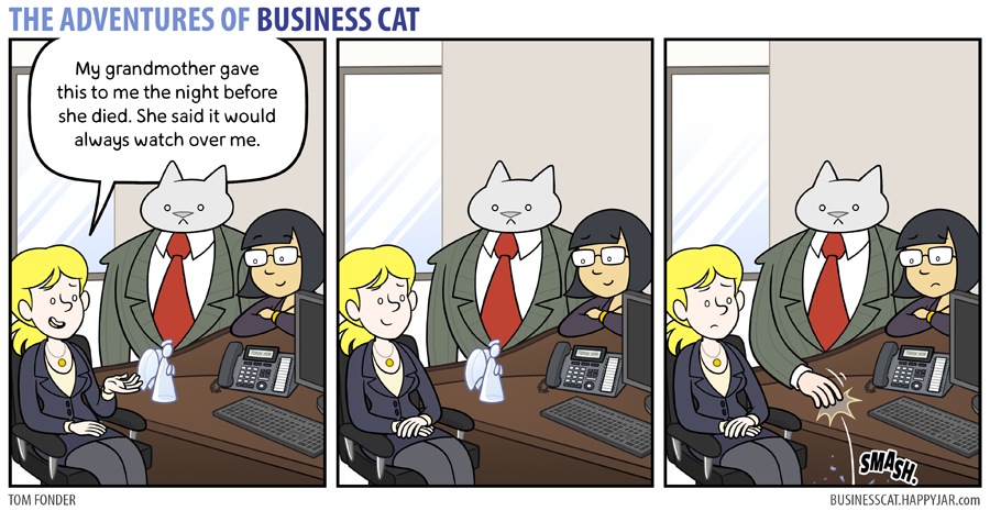 business cat angel
