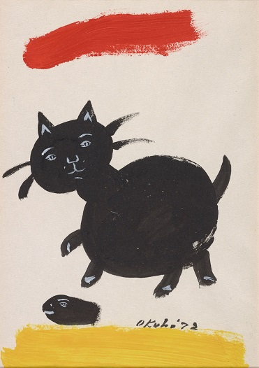 mine okubo cat painting