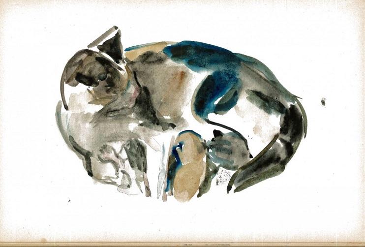 esther baldwin williams cat painting