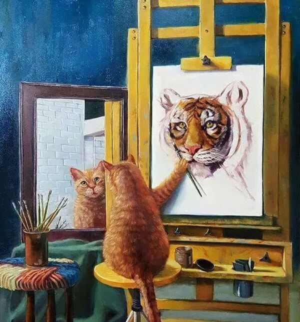 cat portrait tiger
