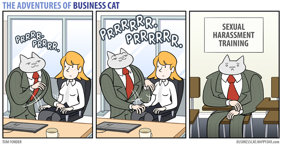 business cat sexual harassment