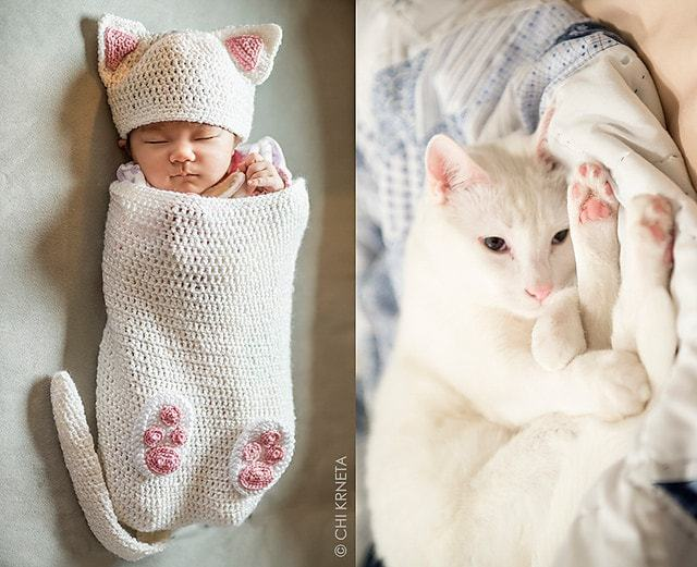 crocheted cat cocoon 3