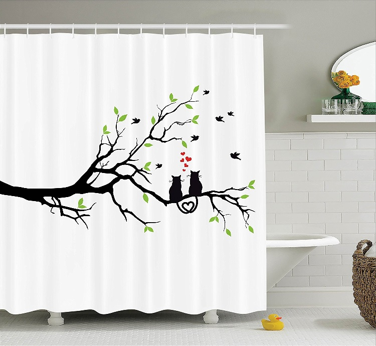 awesome cat shower curtain 8