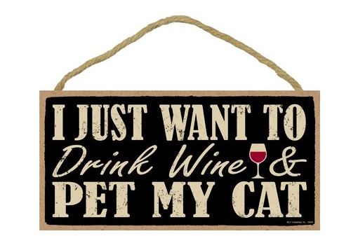 cat loving introvert product wine decal