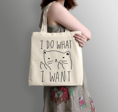 i do what i want cat tote bag