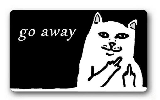 cat loving introvert product go away mat