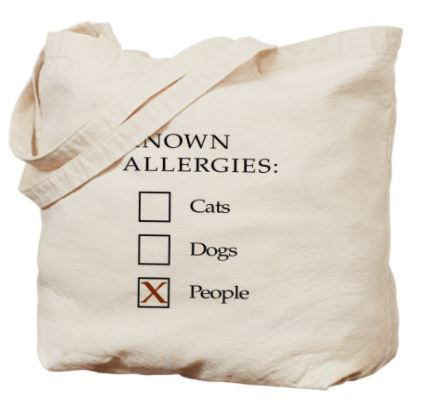 cat loving introvert product tote bag