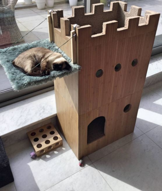 A Man Built A Cat Castle For His Little Princess And Its