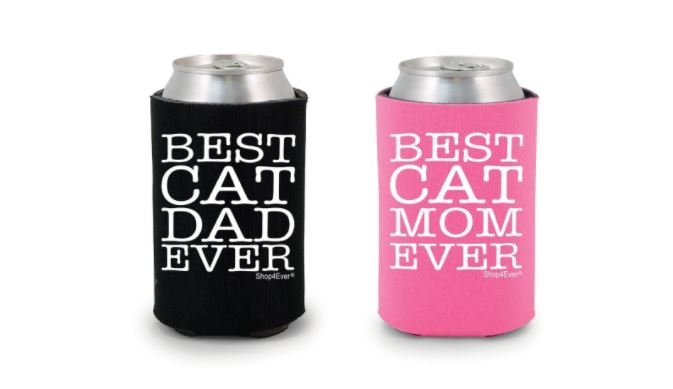 cat beer koozies