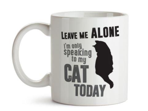 cat loving introvert product cat mug