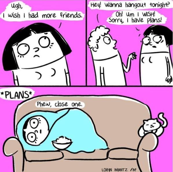 relatable cat comic friends
