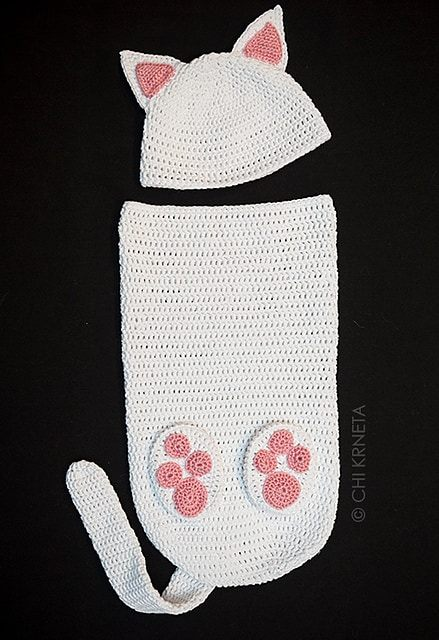 crocheted cat cocoon 2