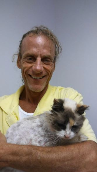 missing blind and deaf senior cat reunited with owner 2