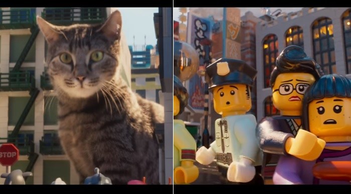 New LEGO movie trailer reveals cat 'Godzilla' terrorizing LEGO city