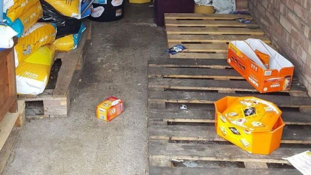 cat food stolen from charity