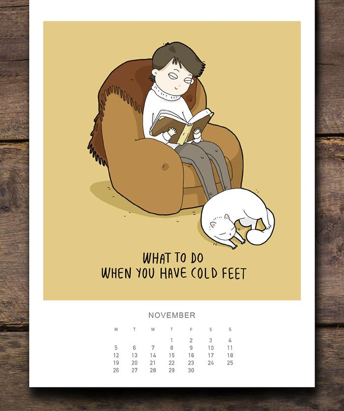 cat calendar november