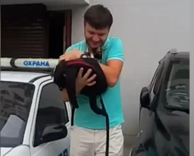 good samaritan catches cat