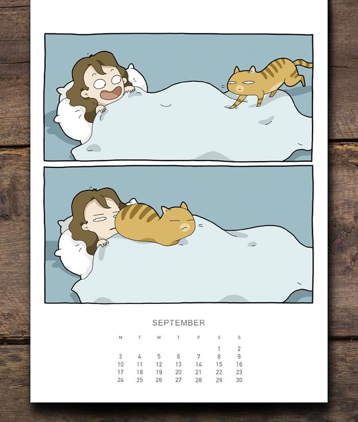cat calendar sept