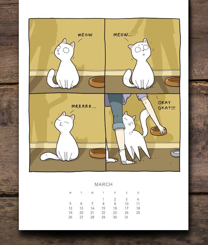 cat calendar march