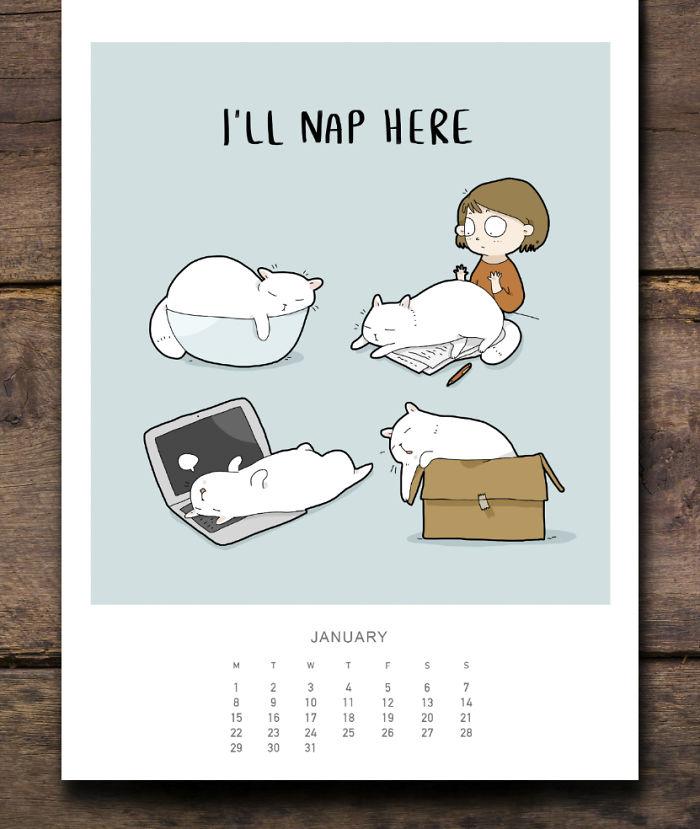 cat calendar jan