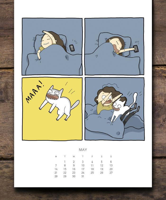 cat calendar may