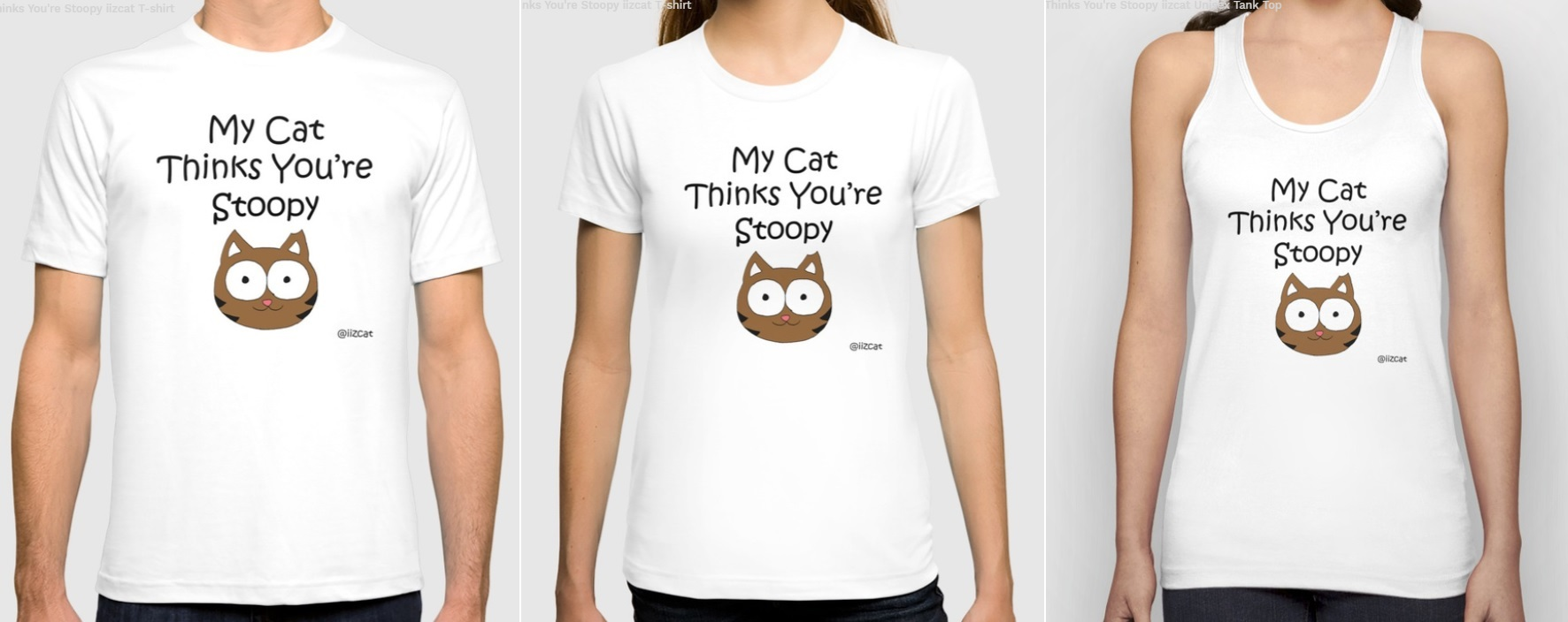 iizcat stoopy shirts