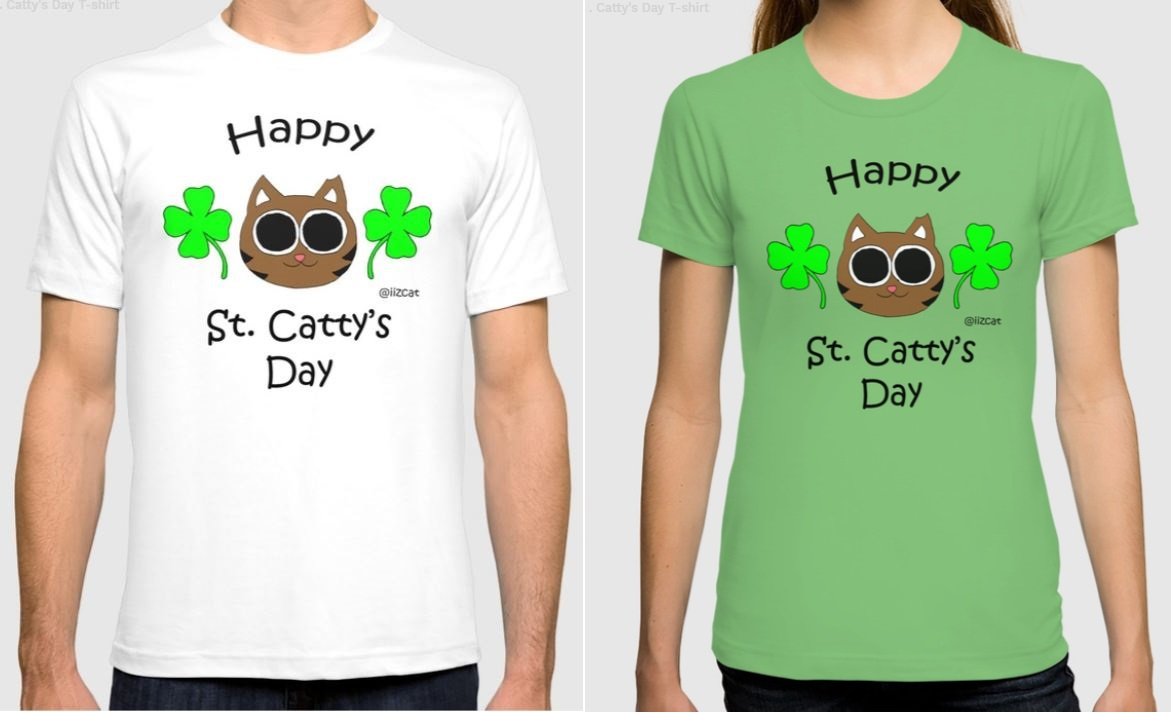 iizcat st patricks day t shirt