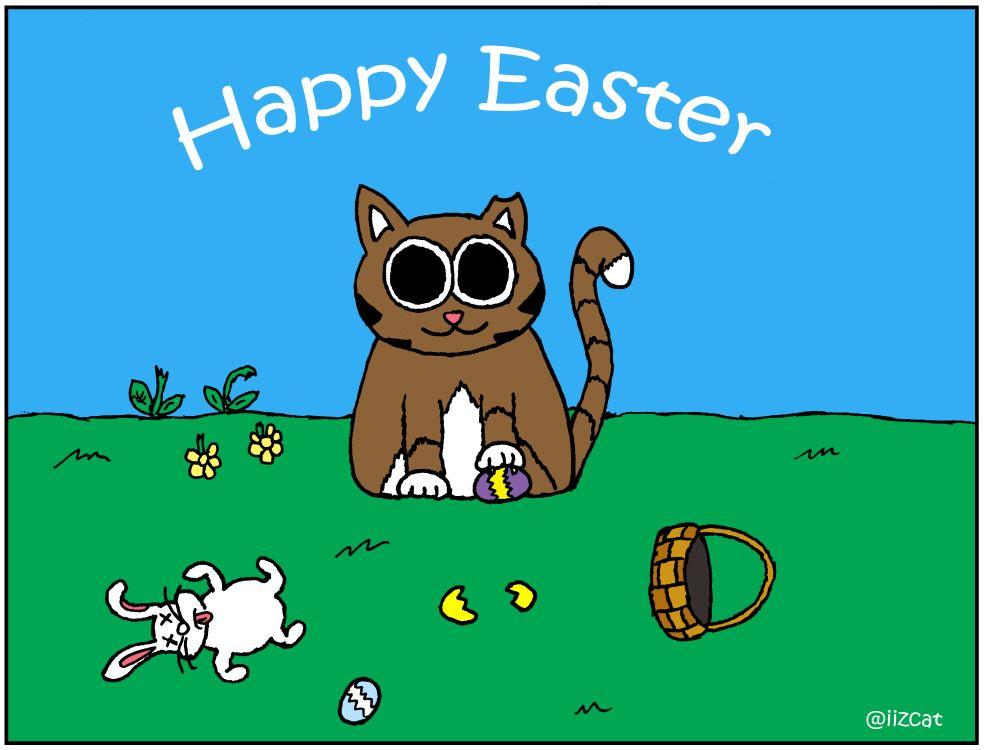 iizcat Easter comic