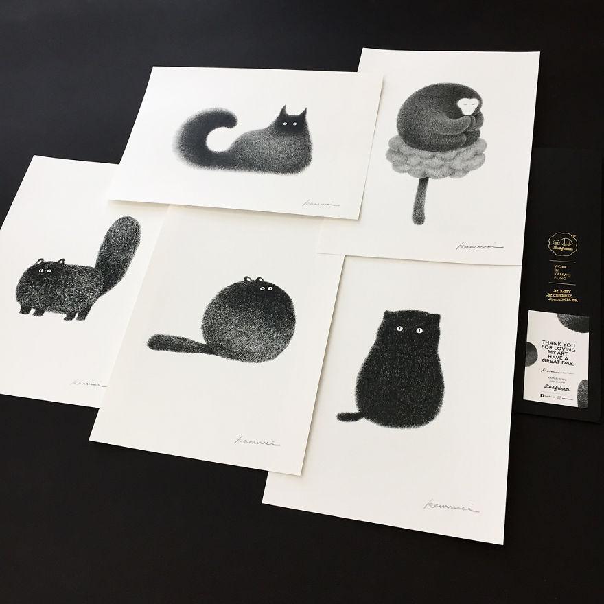 fluffy black cat 18