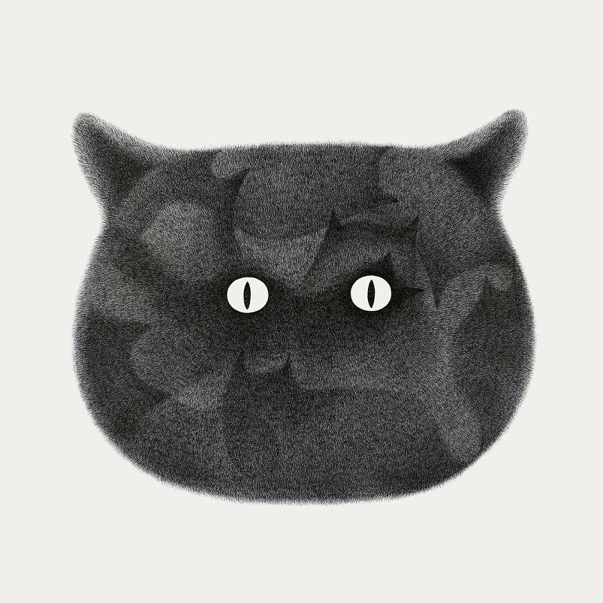 fluffy black cat ink 10