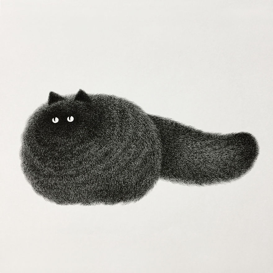 fluffy black cat ink 9