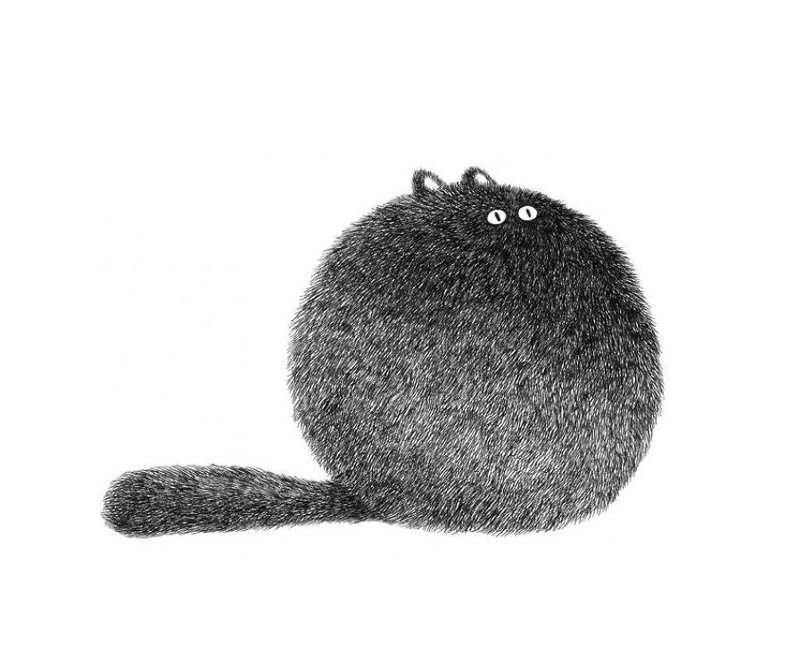 fluffy black cat ink 4
