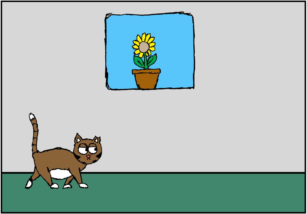iizcat cat vs plant comic 1