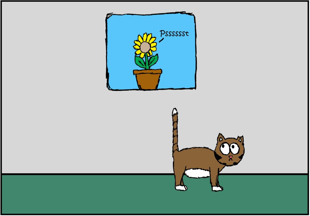 iizcat cat vs plant comic 2